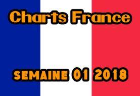 Chiffres de vente de jeux vidéos en France Semaine 01 2018